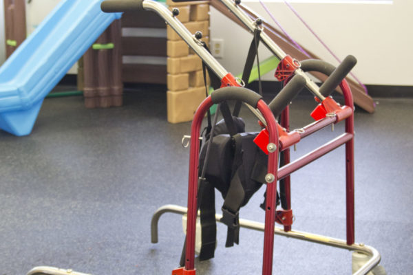 "This device combines the best features of traditional gait trainers and partial weight bearing ""lifters"". The Up N' Go gives dynamic support in walking and is fully adjustable to the patients needs."